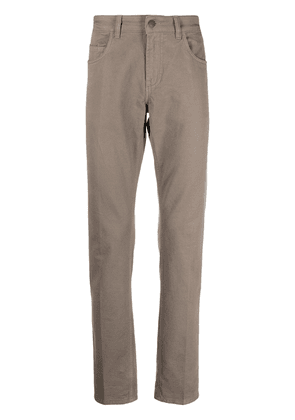 Fay straight leg trousers - Brown
