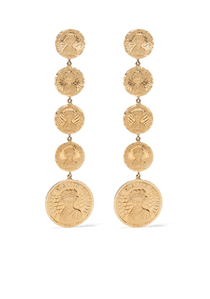 Anissa Kermiche 18kt yellow gold Louise d'Infinie coin earrings