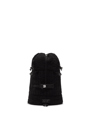 Dolce & Gabbana textured drawstring backpack - Black