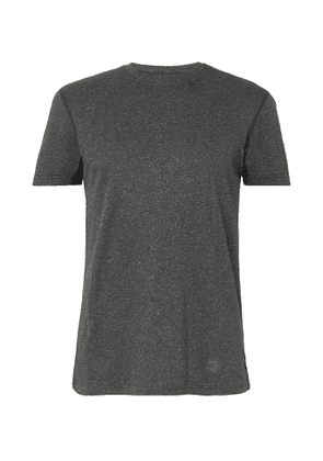 Reigning Champ - Mélange Polartec Power Wool T-Shirt - Men - Black