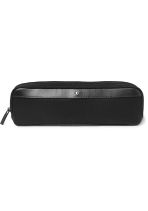 Montblanc - Nightflight Leather-Trimmed Nylon and Mesh Pouch - Men - Black