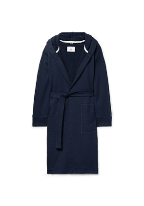 Reigning Champ - Loopback Cotton-Jersey Hooded Robe - Men - Blue