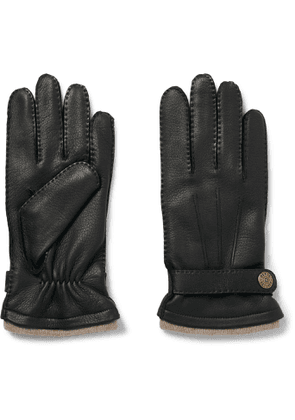 DENTS - Gloucester Cashmere-Lined Leather Gloves - Men - Black - 8
