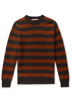 Connolly - Goodwood Striped Mélange Shetland Wool and Cashmere-Blend Sweater - Men - Red