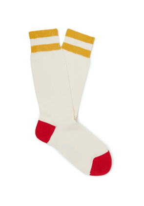 Connolly - Goodwood Striped Cotton Socks - Men - Neutrals