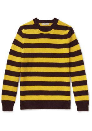 Connolly - Goodwood Striped Mélange Shetland Wool and Cashmere-Blend Sweater - Men - Yellow