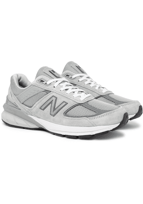 New Balance - M990v5 Suede and Mesh Sneakers - Men - Gray