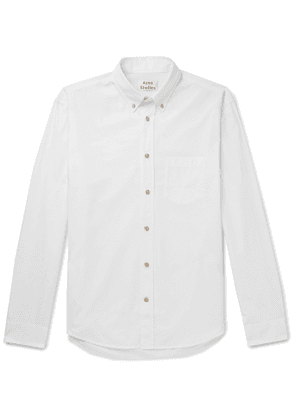ACNE STUDIOS - Button-Down Collar Cotton-Poplin Shirt - Men - White