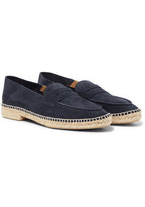 Castañer - Nacho Collapsible-Heel Suede Espadrille Loafers - Men - Blue