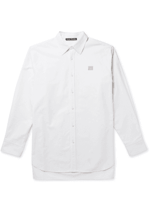 ACNE STUDIOS - Logo-Appliquéd Cotton Oxford Shirt - Men - White