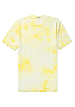James Perse - Tie-Dyed Combed Cotton-Jersey T-Shirt - Men - Yellow
