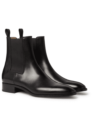 CHRISTIAN LOUBOUTIN - Polished-Leather Chelsea Boots - Men - Black