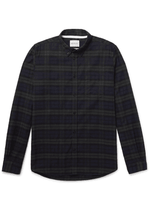 Norse Projects - Anton Button-Down Collar Checked Brushed Cotton-Flannel Shirt - Men - Green