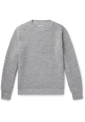 Universal Works - Ribbed-Knit Sweater - Men - Gray