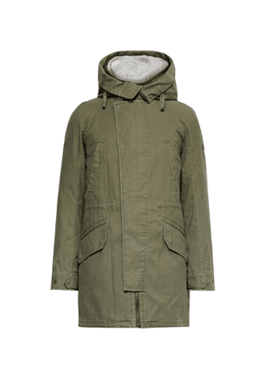 Yves Salomon - Cotton-Twill Parka with Detachable Ripstop and Shearling Liner - Men - Green