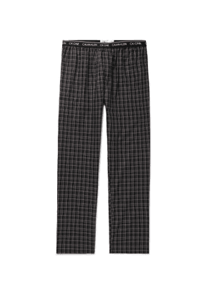 Calvin Klein Underwear - Checked Cotton Pyjama Trousers - Men - Black
