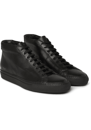 Common Projects - Original Achilles Leather High-Top Sneakers - Men - Black