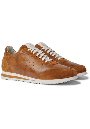 Brunello Cucinelli - Leather and Suede Sneakers - Men - Brown