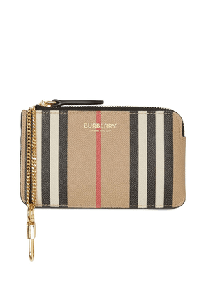 Coated Check Wallet W/ Chain