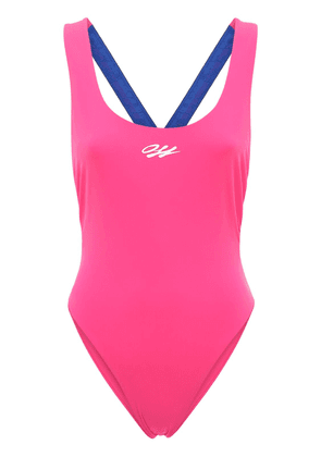 Logo Taped One Piece Swimsuit