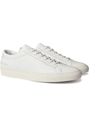 Common Projects - Achilles Pebble-Grain Leather Sneakers - Men - White