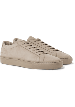 Common Projects - Achilles Lux Nubuck Sneakers - Men - Brown