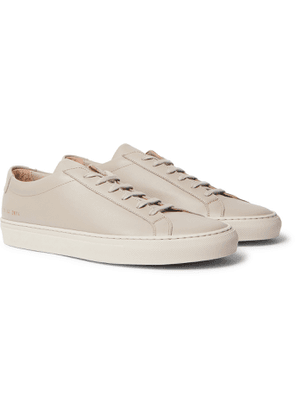 Common Projects - Original Achilles Saffiano Leather Sneakers - Men - Gray