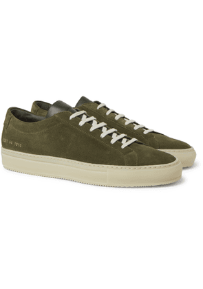Common Projects - Achilles Suede and Leather Sneakers - Men - Green