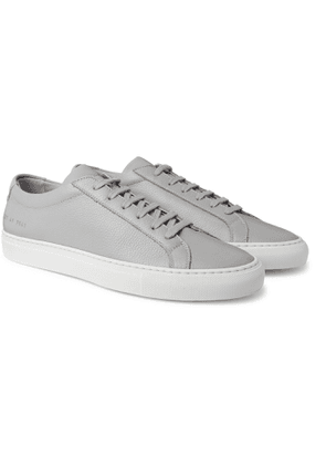 Common Projects - Achilles Pebble-Grain Leather Sneakers - Men - Gray