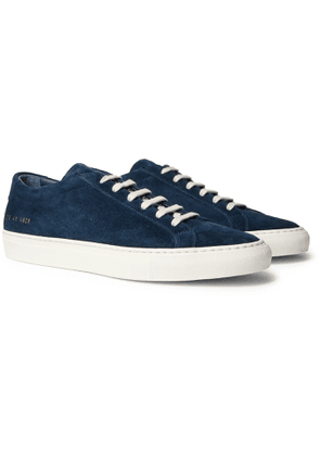 Common Projects - Achilles Suede Sneakers - Men - Blue