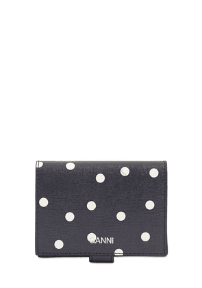 Printed Leather Compact Wallet