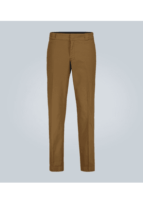 Stretch-cotton pants with logo
