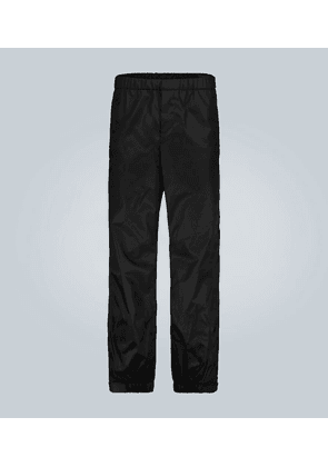 Technical trackpants with logo