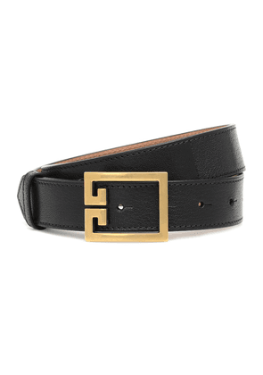 Double G leather belt