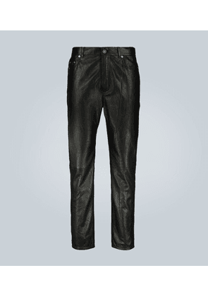 Straight-cut lamb leather pants