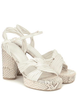 Calisse leather platform sandals