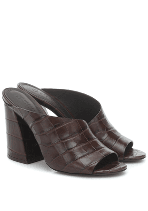 Izar croc-effect leather sandals