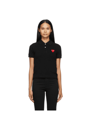 Comme des Garcons Play Black Heart Patch Polo