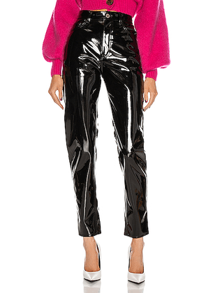 ATTICO High Waisted Carrot Pant in Black - Black. Size 40 (also in 38).
