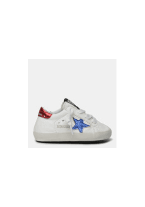 Golden Goose Deluxe Brand Babies' Star Nappa Trainers - White/Blue/Red - UK 1 Infant