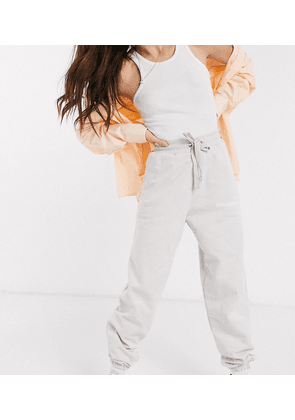 COLLUSION Unisex logo joggers in silver grey