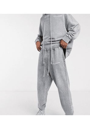 COLLUSION oversized joggers in washed grey