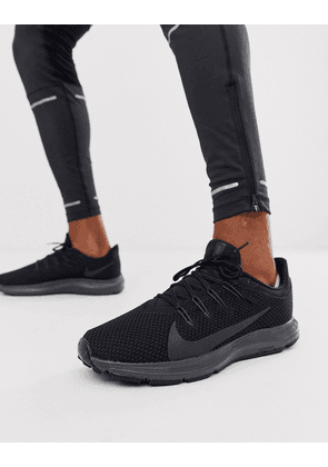 Nike Running Quest 2 trainers in triple black