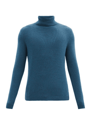 Allude - Roll-neck Cashmere Sweater - Mens - Blue