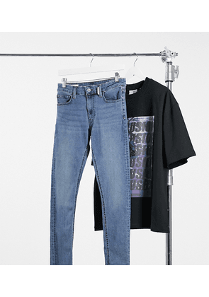 COLLUSION x002 super skinny jeans in mid washed blue