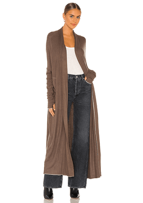 Free People Warm Up Cardi in Taupe. Size XS.