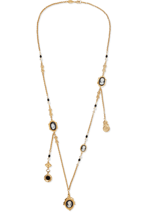 Ben-amun 24-karat Gold-plated Cameo, Faux Pearl And Bead Necklace Woman Gold Size --
