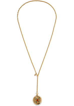 Ben-amun 24-karat Gold-plated, Stone, Faux Pearl And Enamel Locket Necklace Woman Gold Size --