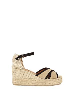 Castañer Brity 75 Canvas Espadrille Wedge Sandals