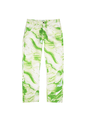 Aries Marble Lilly Printed Straight-leg Jeans